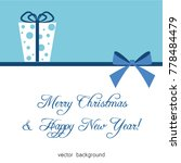 christmas gifts with gift card... | Shutterstock .eps vector #778484479
