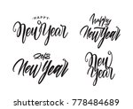 vector illustration  set of... | Shutterstock .eps vector #778484689