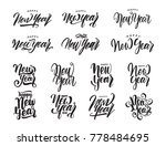 vector illustration  big set of ... | Shutterstock .eps vector #778484695
