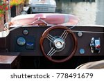 tourist boat control wheel and... | Shutterstock . vector #778491679