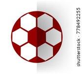 soccer ball sign. vector. bordo ... | Shutterstock .eps vector #778492255