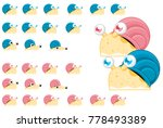 snail animated game characters | Shutterstock .eps vector #778493389