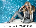 beautiful stunning woman with...   Shutterstock . vector #778494331