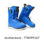 pair of technological snowboard ... | Shutterstock . vector #778499167