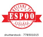 "rubber stamp ""welcome to espoo  ... 