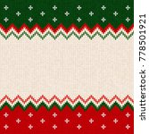 ugly sweater merry christmas... | Shutterstock . vector #778501921