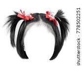 black hair isolated on white...   Shutterstock . vector #778502251