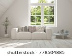 idea of white room with sofa...   Shutterstock . vector #778504885