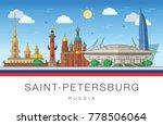 saint petersburg  russia....   Shutterstock .eps vector #778506064