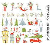 collection merry christmas and...   Shutterstock .eps vector #778506601