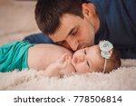 the father admiring at his... | Shutterstock . vector #778506814