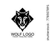wolf logo design vector | Shutterstock .eps vector #778507891