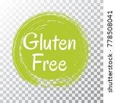 gluten free label vector  green ...