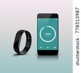 smart band with smartphone | Shutterstock .eps vector #778513987