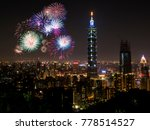 firework with cityscape... | Shutterstock . vector #778514527