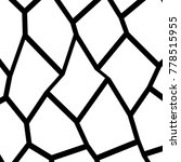 black and white irregular grid  ... | Shutterstock .eps vector #778515955