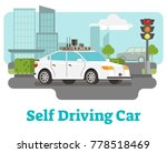 self driving car with city... | Shutterstock .eps vector #778518469