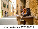 boots shoes show beside the... | Shutterstock . vector #778520821