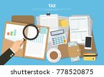tax calculation  budget... | Shutterstock .eps vector #778520875