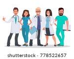doctors set. team of medical... | Shutterstock .eps vector #778522657