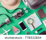 top view travel concept with... | Shutterstock . vector #778522834