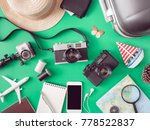 top view travel concept with... | Shutterstock . vector #778522837
