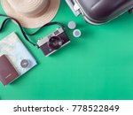 top view travel concept with...   Shutterstock . vector #778522849