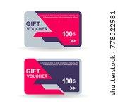 gift voucher 100 buy discount... | Shutterstock .eps vector #778522981
