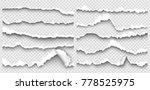 set of elements torn paper on... | Shutterstock .eps vector #778525975