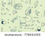 abstract minimalistic flat... | Shutterstock .eps vector #778531555