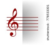 music violin clef sign. g clef. ... | Shutterstock .eps vector #778533301