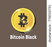 vector bitcoin black logo ... | Shutterstock .eps vector #778533751