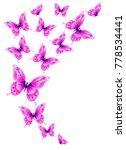 beautiful pink butterflies ... | Shutterstock .eps vector #778534441