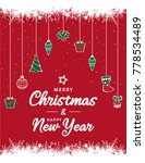 merry christmas card or... | Shutterstock .eps vector #778534489