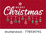 merry christmas card or... | Shutterstock .eps vector #778534741