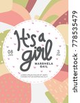 baby shower invitation. it's a...   Shutterstock .eps vector #778535479