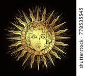 hand drawn antique style sun... | Shutterstock .eps vector #778535545
