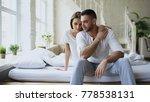 depressed yong man sitting in... | Shutterstock . vector #778538131
