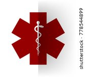 medical symbol of the emergency ... | Shutterstock .eps vector #778544899