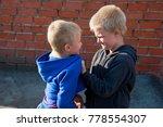 children fight between two... | Shutterstock . vector #778554307