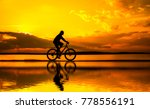silhouette of young man woman... | Shutterstock . vector #778556191
