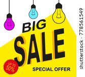 special offer sale tag yellow... | Shutterstock .eps vector #778561549