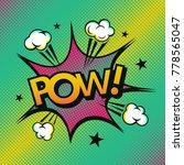 comic book. art vector colorful.... | Shutterstock .eps vector #778565047