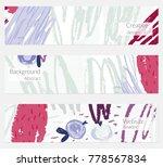 hand drawn creative universal... | Shutterstock .eps vector #778567834