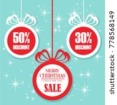 christmas balls sale. special... | Shutterstock .eps vector #778568149