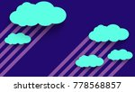 abstract cloud in night sky... | Shutterstock .eps vector #778568857