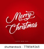 merry christmas with and flat... | Shutterstock .eps vector #778569265