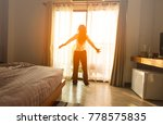happy in the morning of woman...   Shutterstock . vector #778575835