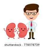 cute funny smiling doctor and... | Shutterstock .eps vector #778578739