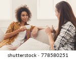 two happy young female friends... | Shutterstock . vector #778580251